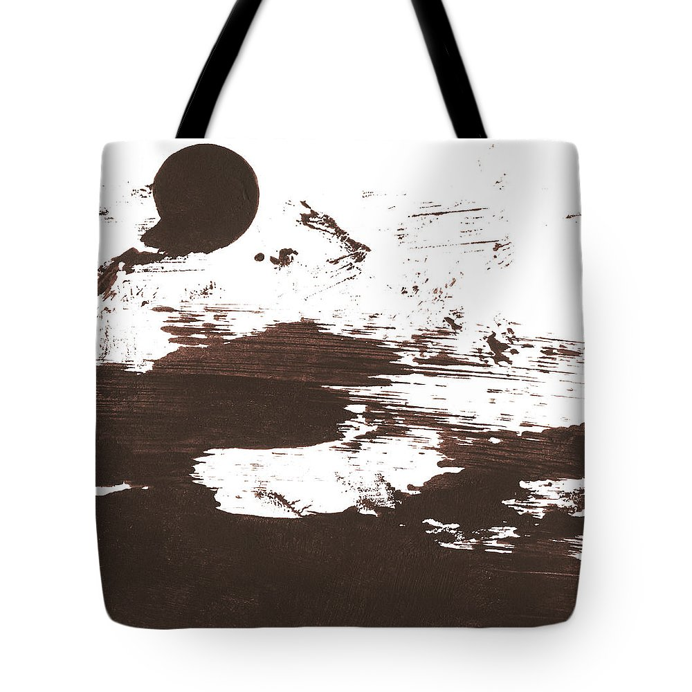 Stained Tote Bag featuring the photograph Messy Tan Brown Paint Mess by Kevinruss