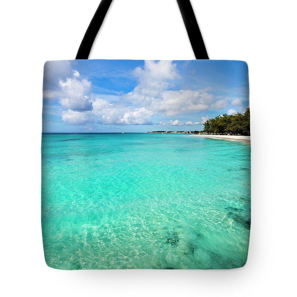 Water's Edge Tote Bag featuring the photograph Miami Beach, Barbados by Flavio Vallenari