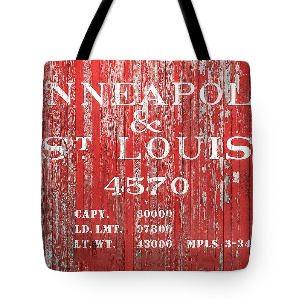 Red Tote Bag featuring the photograph Minneapolis And St. Louis by Todd Klassy