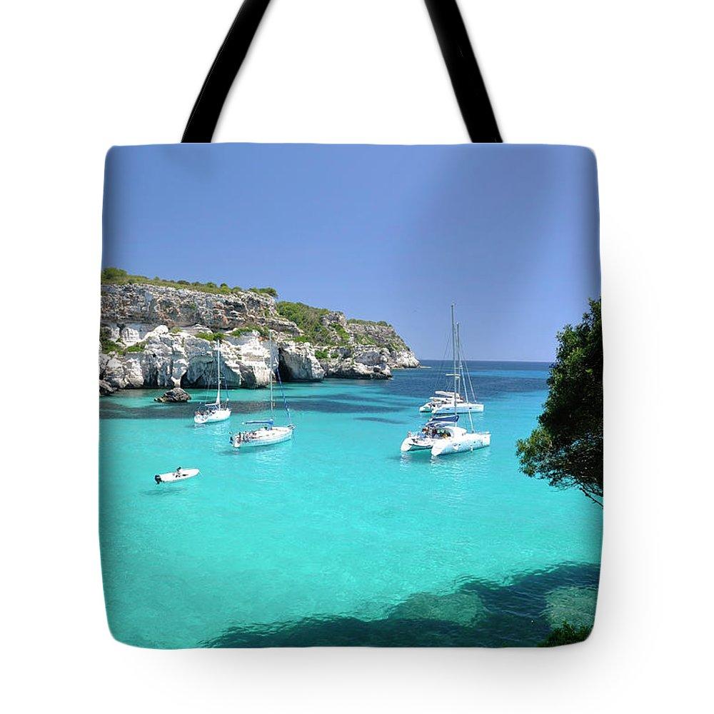 Scenics Tote Bag featuring the photograph Minorca, Cala Macarella by Stefano Salvetti