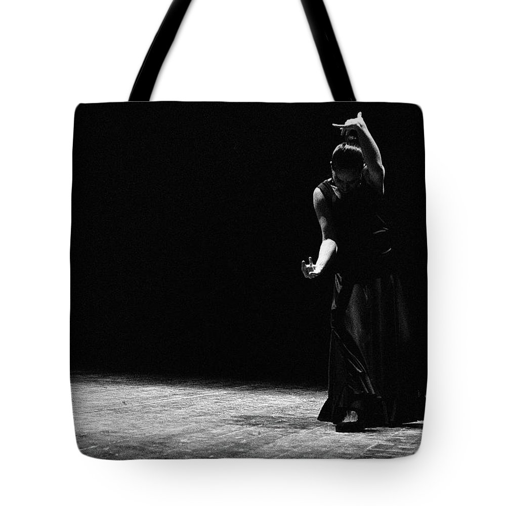 Ballet Dancer Tote Bag featuring the photograph Modern Flamenco by T-immagini