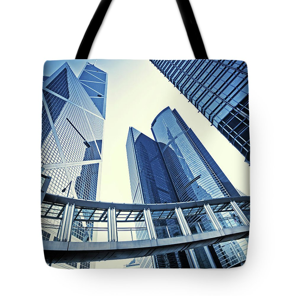 Corporate Business Tote Bag featuring the photograph Modern Office Buildings by Nikada