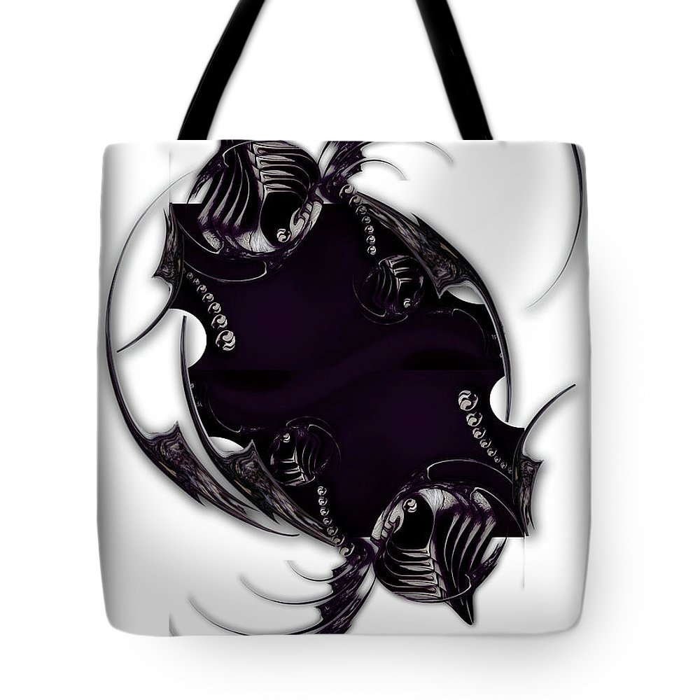 Impression Tote Bag featuring the digital art Momentary Impression of Undefined Abstraction by Carmen Fine Art