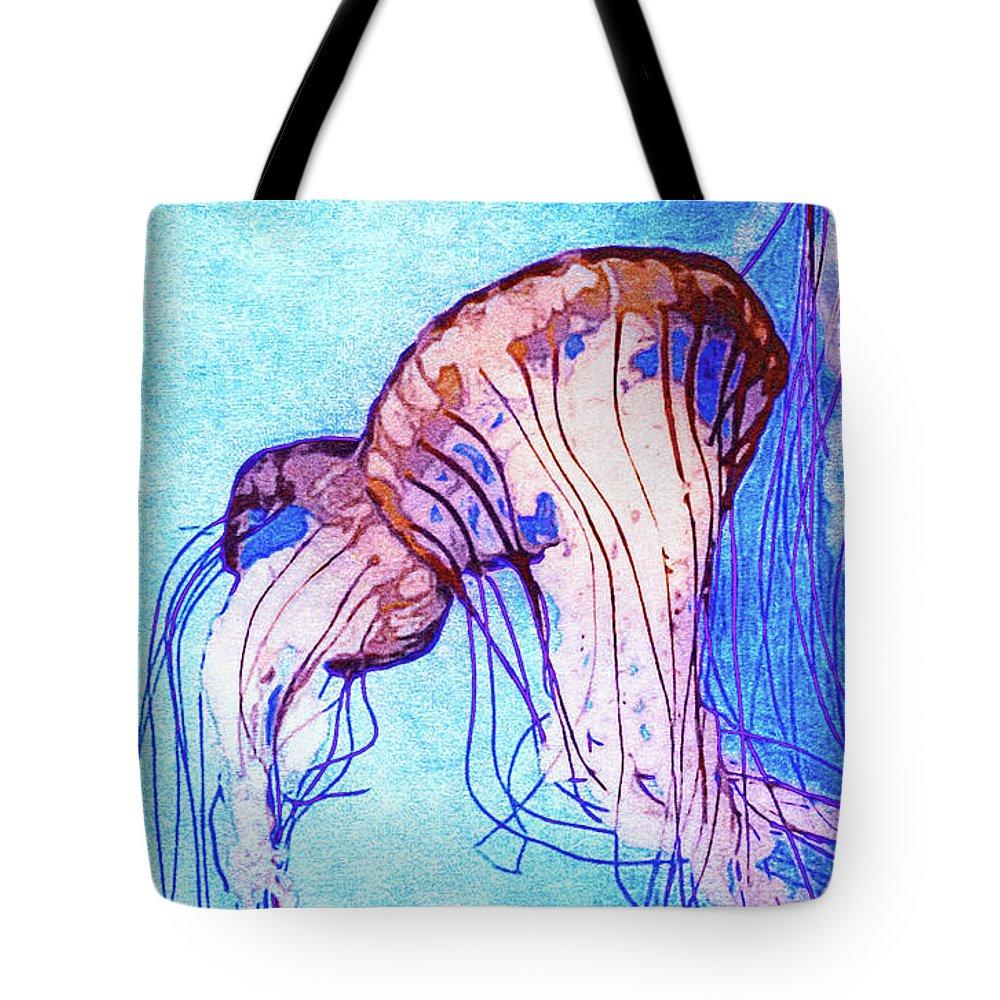 Monterey Bay Aquarium Mixed Media Tote Bags