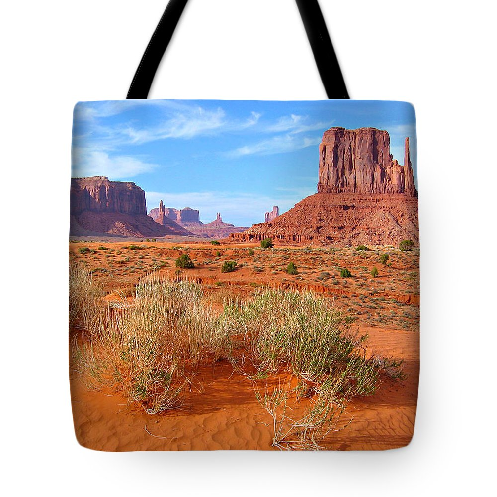 Tranquility Tote Bag featuring the photograph Monument Valley Landscape by Sandra Leidholdt