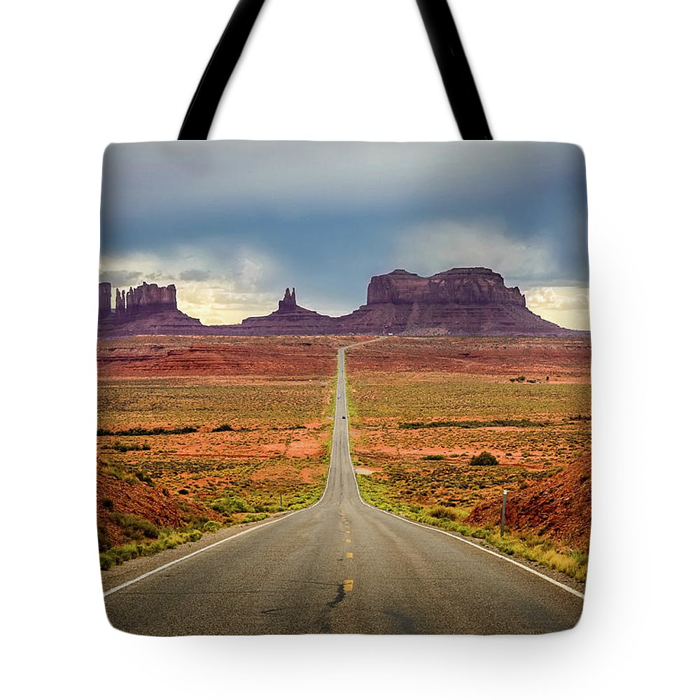 Scenics Tote Bag featuring the photograph Monument Valley by Posnov