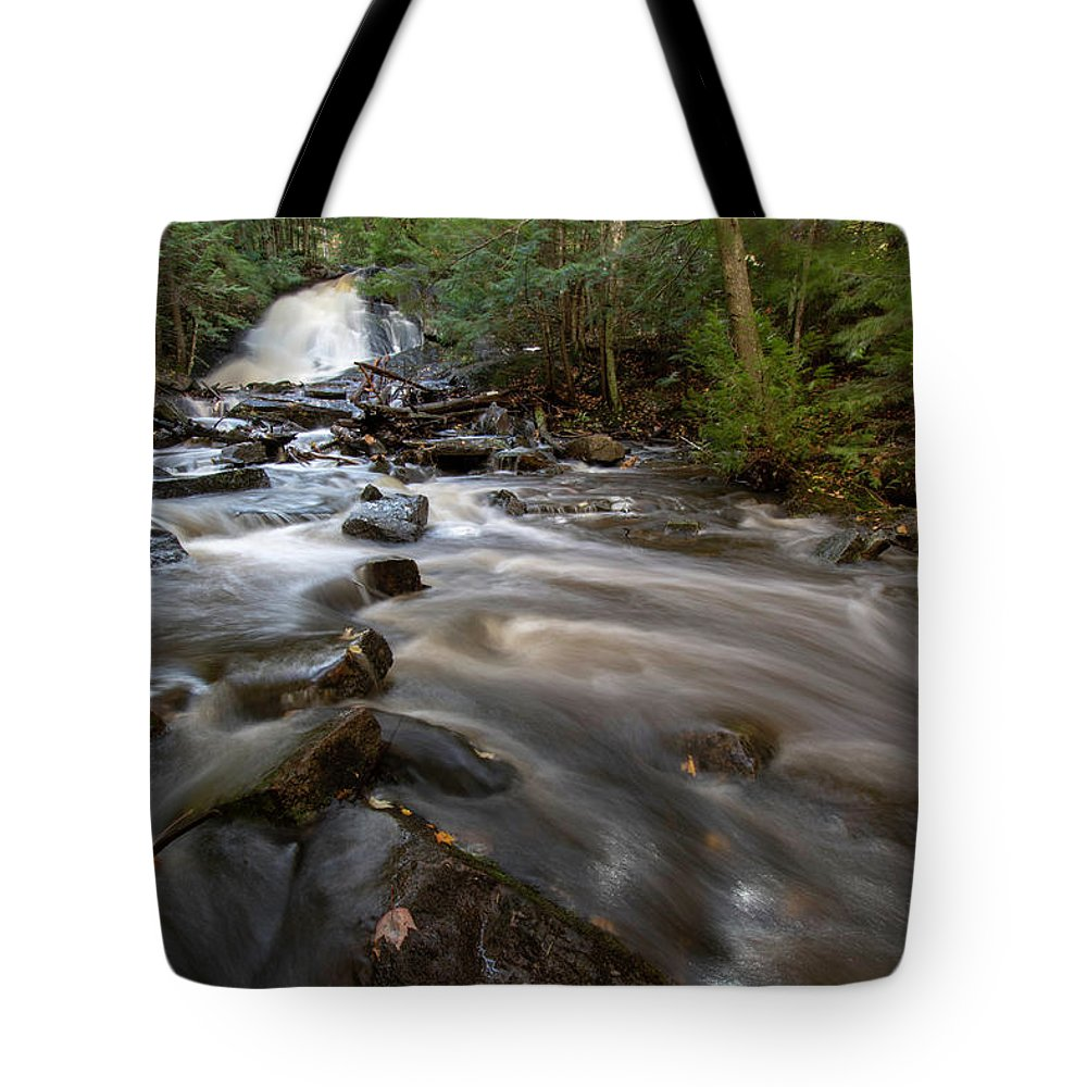 Tote Bag featuring the photograph Morgan Falls 10121801 by Rick Veldman