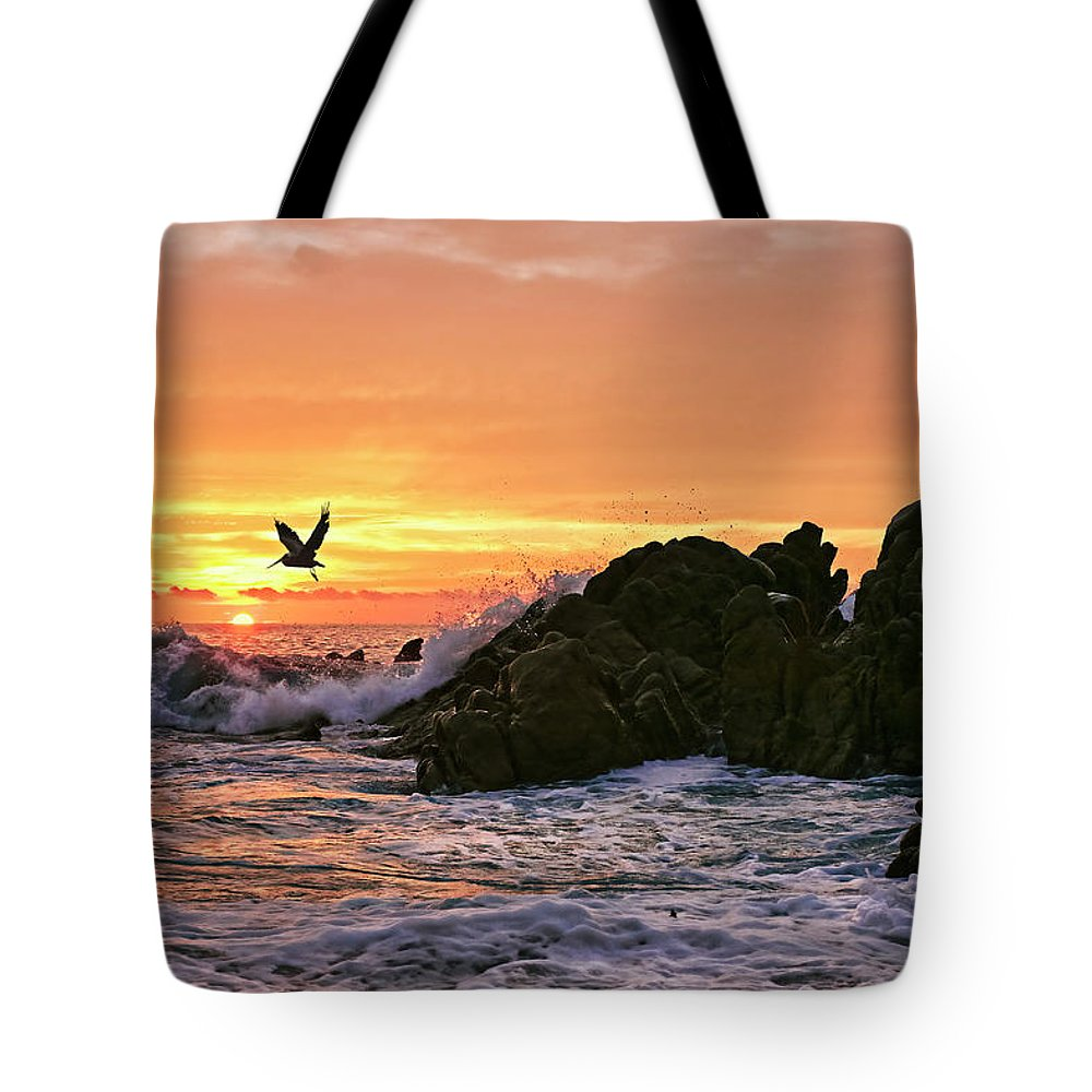 Landscape Tote Bag featuring the photograph Morning Flight Serenity by Marcia Colelli