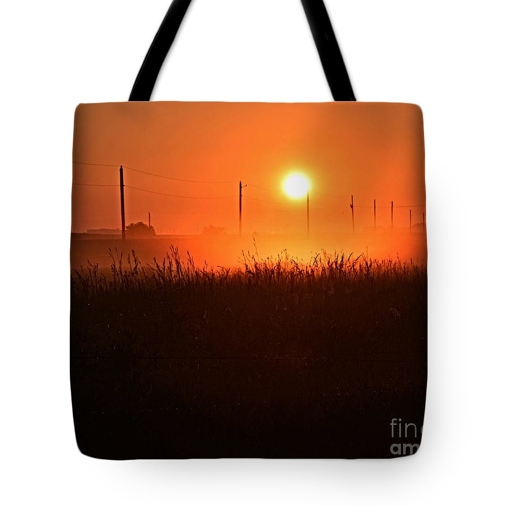Morning Glory Tote Bag featuring the photograph Morning Glory by Kathy M Krause