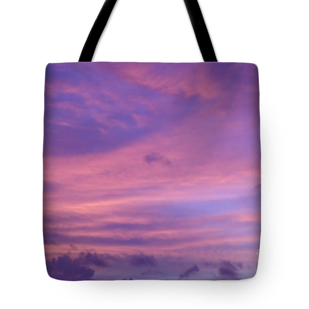 Purple Tote Bag featuring the photograph Morning Purples by Margaret Brooks
