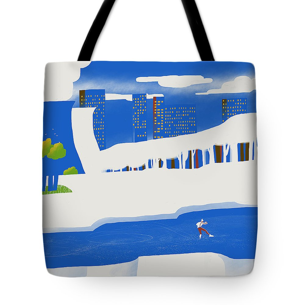 People Tote Bag featuring the digital art Moscow December by Sergey Maidukov