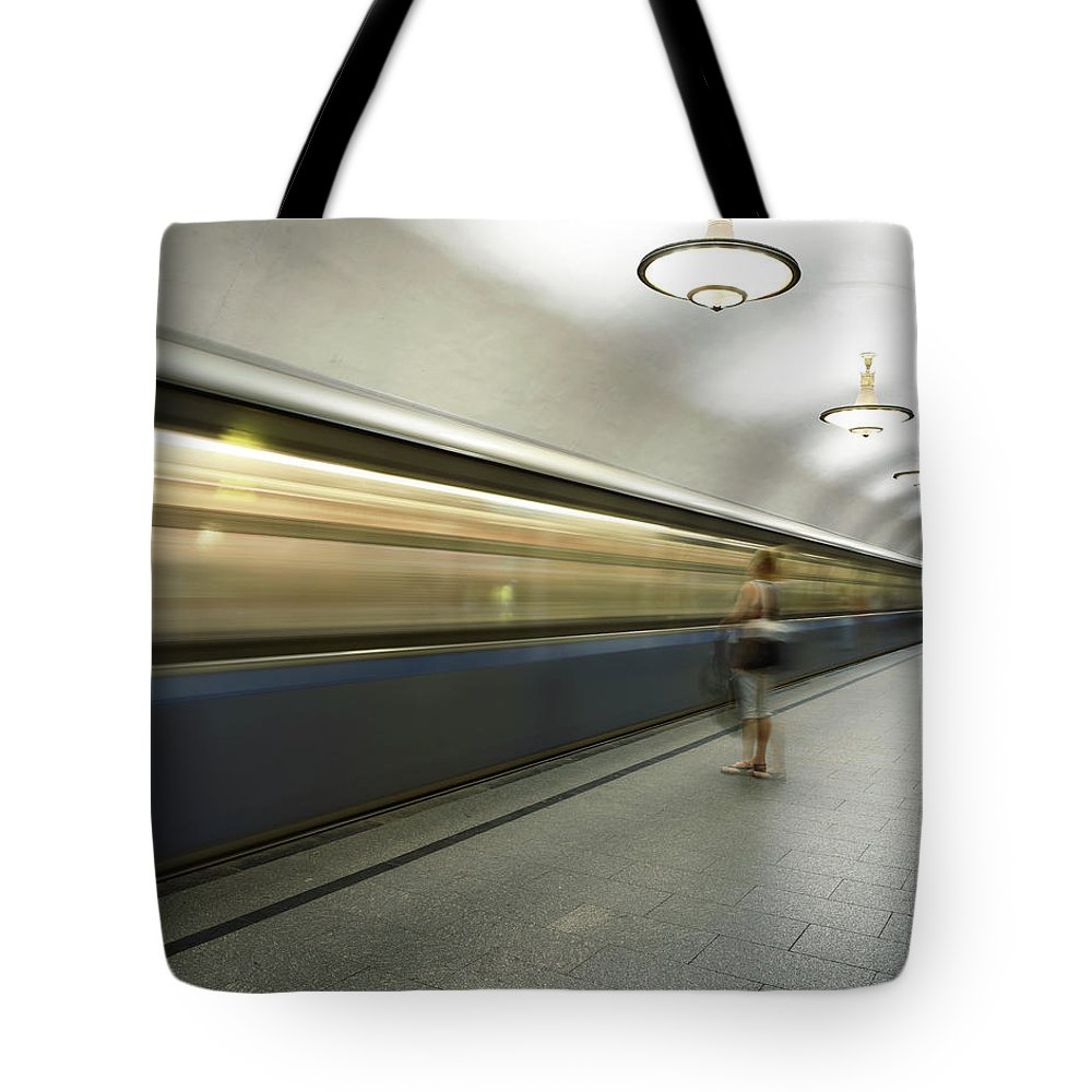People Tote Bag featuring the photograph Moscow Metro by Fmajor
