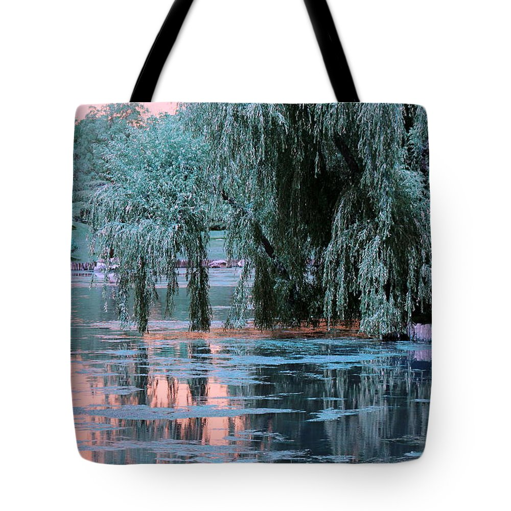 Willow Tree Tote Bag featuring the photograph Mother Willow Infrared by Colleen Cornelius