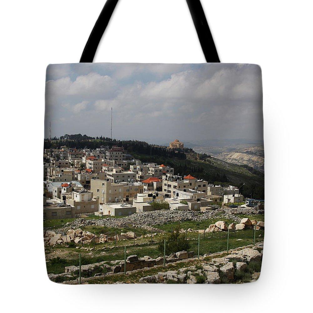 Tranquility Tote Bag featuring the photograph Mount Gerizim, Samaritan Community by Gunter Hartnagel