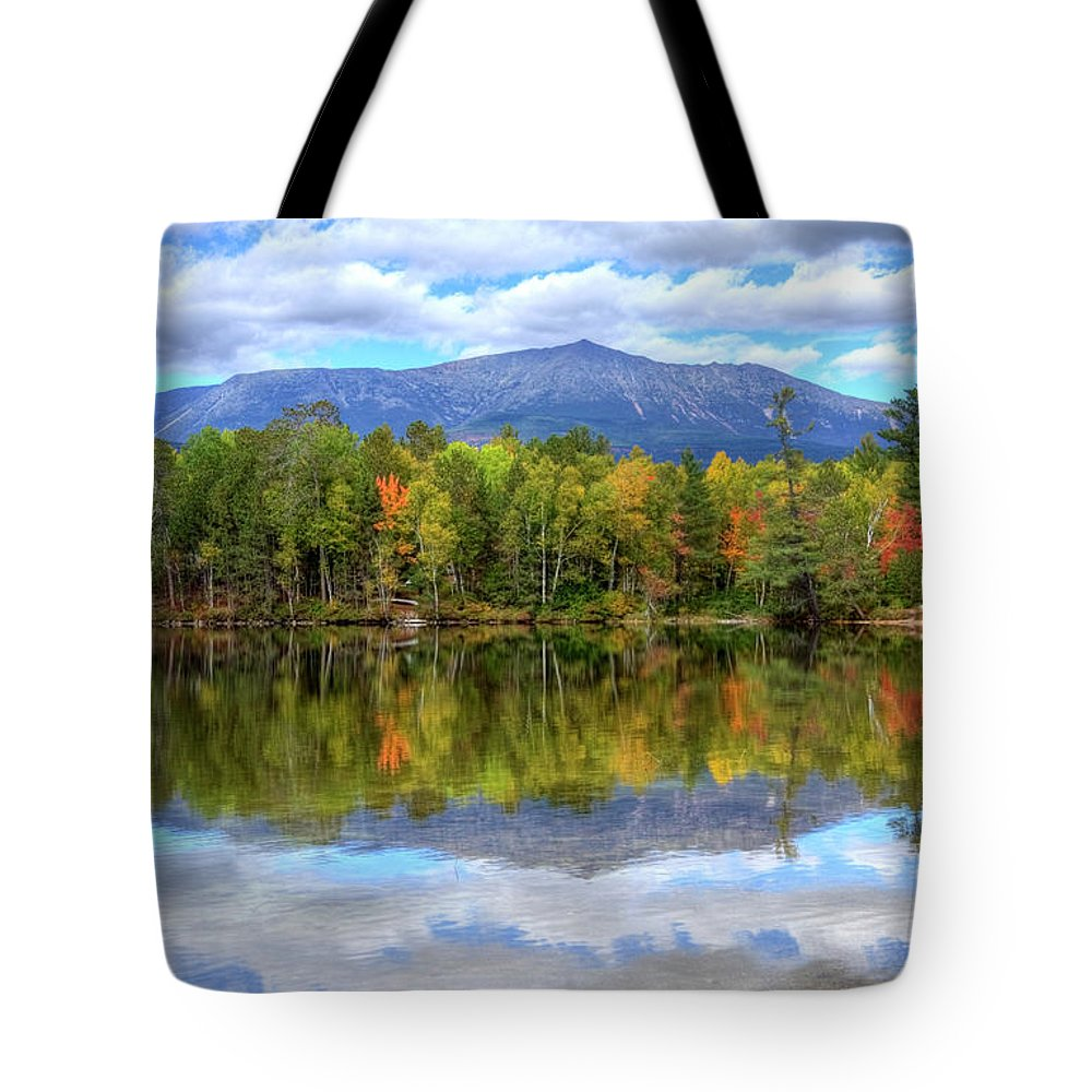 Scenics Tote Bag featuring the photograph Mount Katahdin by Denistangneyjr