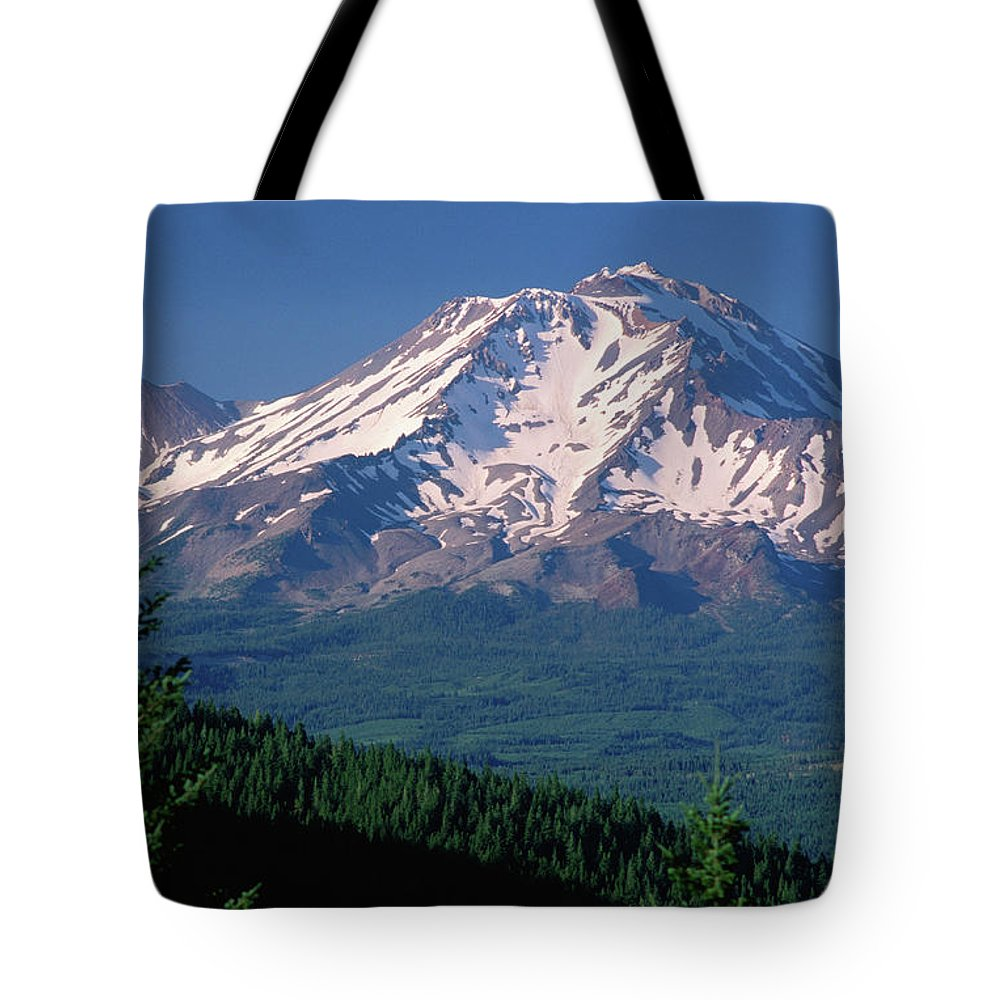 Toughness Tote Bag featuring the photograph Mt Shasta Across Lake Siskiyou, Mt by John Elk Iii