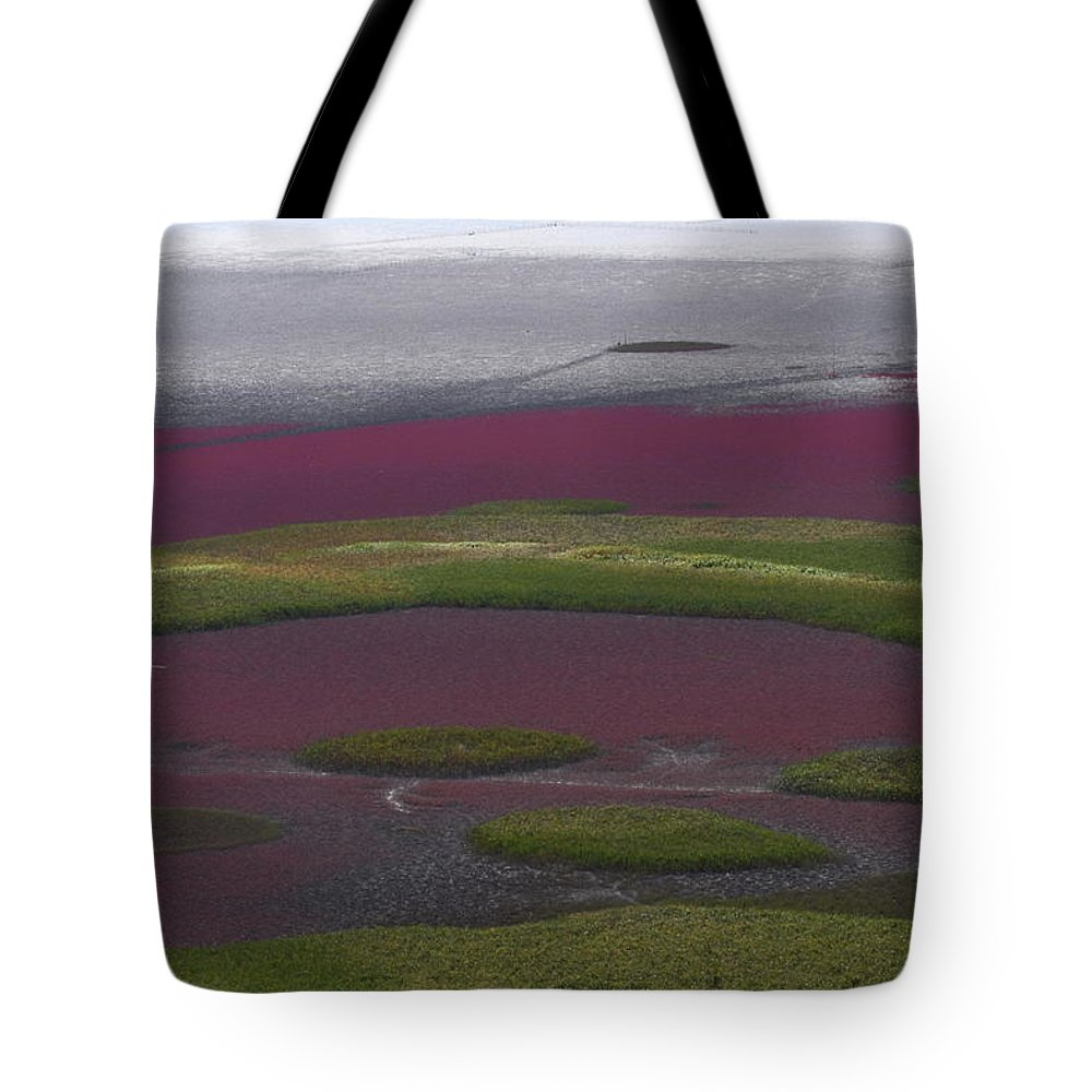 Scenics Tote Bag featuring the photograph Mud Flats At Suncheon Bay by Photography By Simon Bond