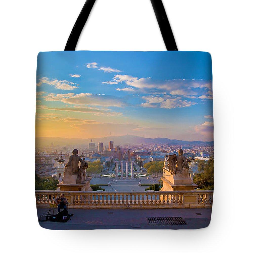 People Tote Bag featuring the photograph Museu Nacional Dart De Catalunya by Albert Photo