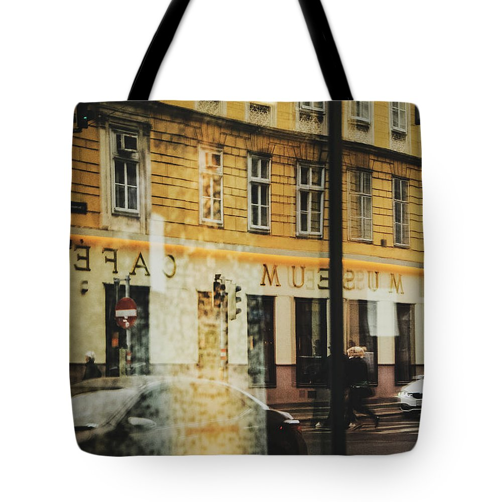 Vienna Tote Bag featuring the photograph Museum Cafe by Peter Brooker