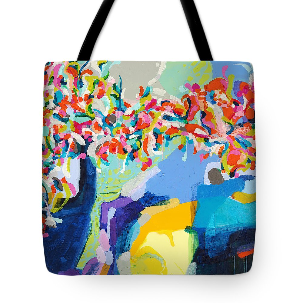 Abstract Tote Bag featuring the painting My Vanity by Claire Desjardins