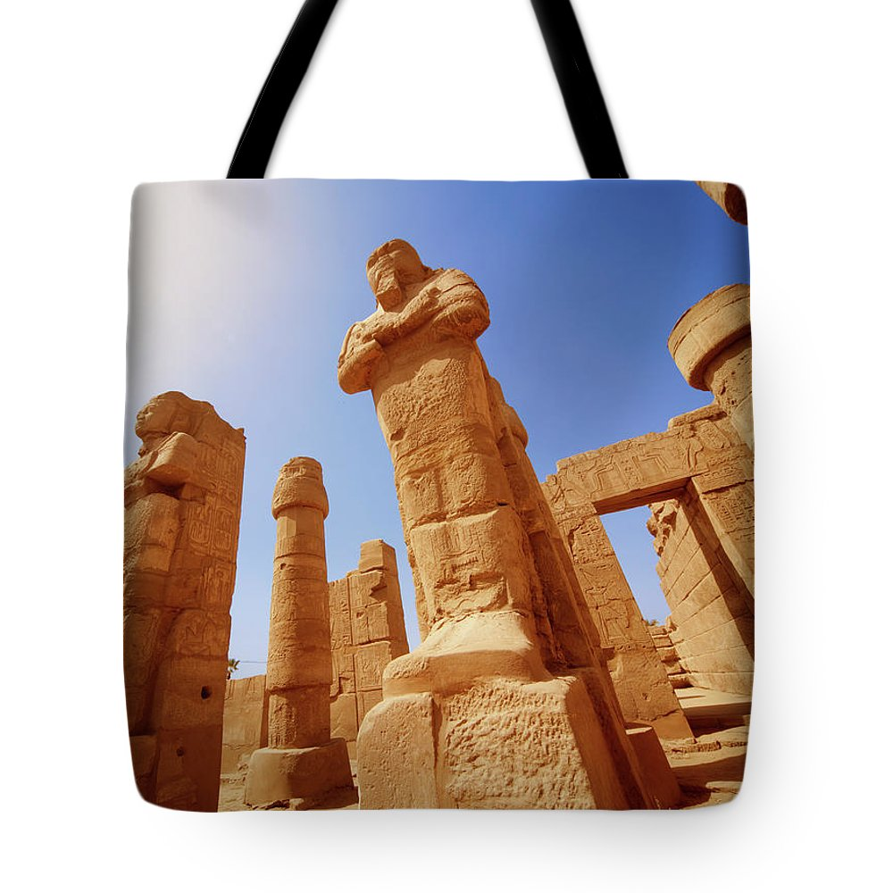 Art Tote Bag featuring the photograph Mysterious Ancient Temple Ruins In Egypt by Fds111