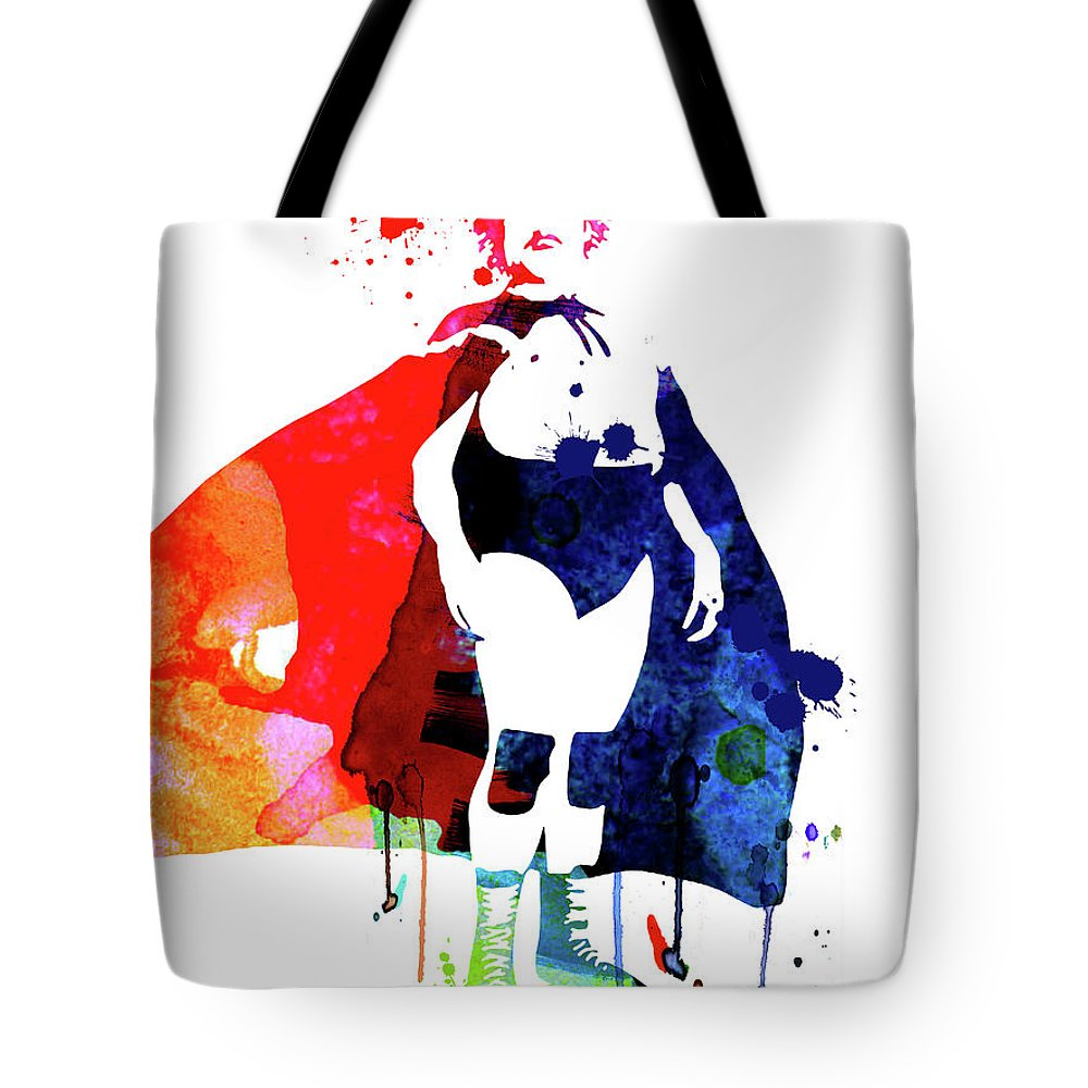 Movies Tote Bag featuring the mixed media Nacho Watercolor by Naxart Studio