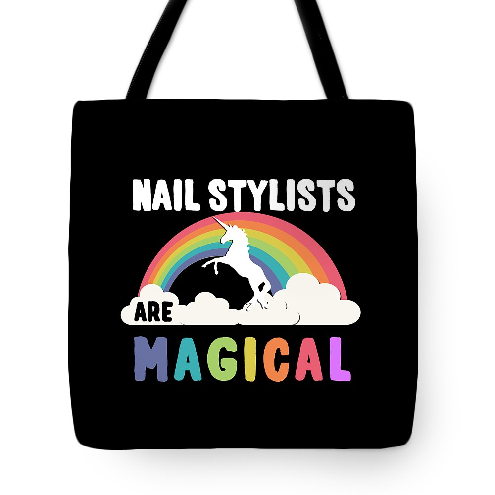 Unicorn Tote Bag featuring the digital art Nail Stylists Are Magical by Flippin Sweet Gear