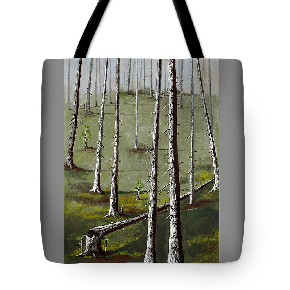 Trees Tote Bag featuring the digital art Naked Forest by Juan Carlos Rios