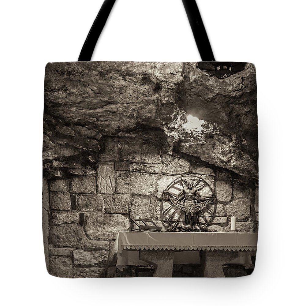 Ancient Tote Bag featuring the photograph Nativity Cave by Sean O'Cairde