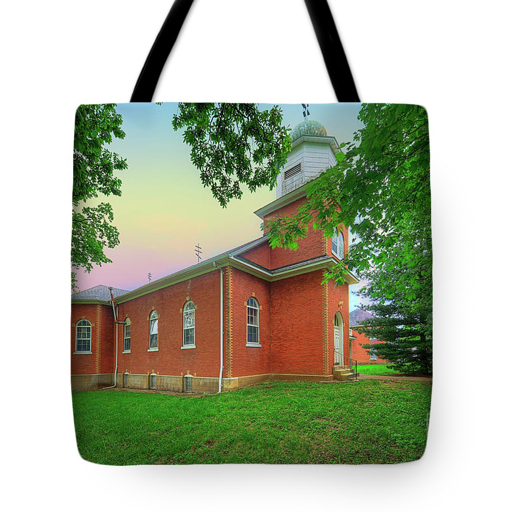 Explore Tote Bag featuring the photograph Nativity Of The Virgin Mary by Larry Braun