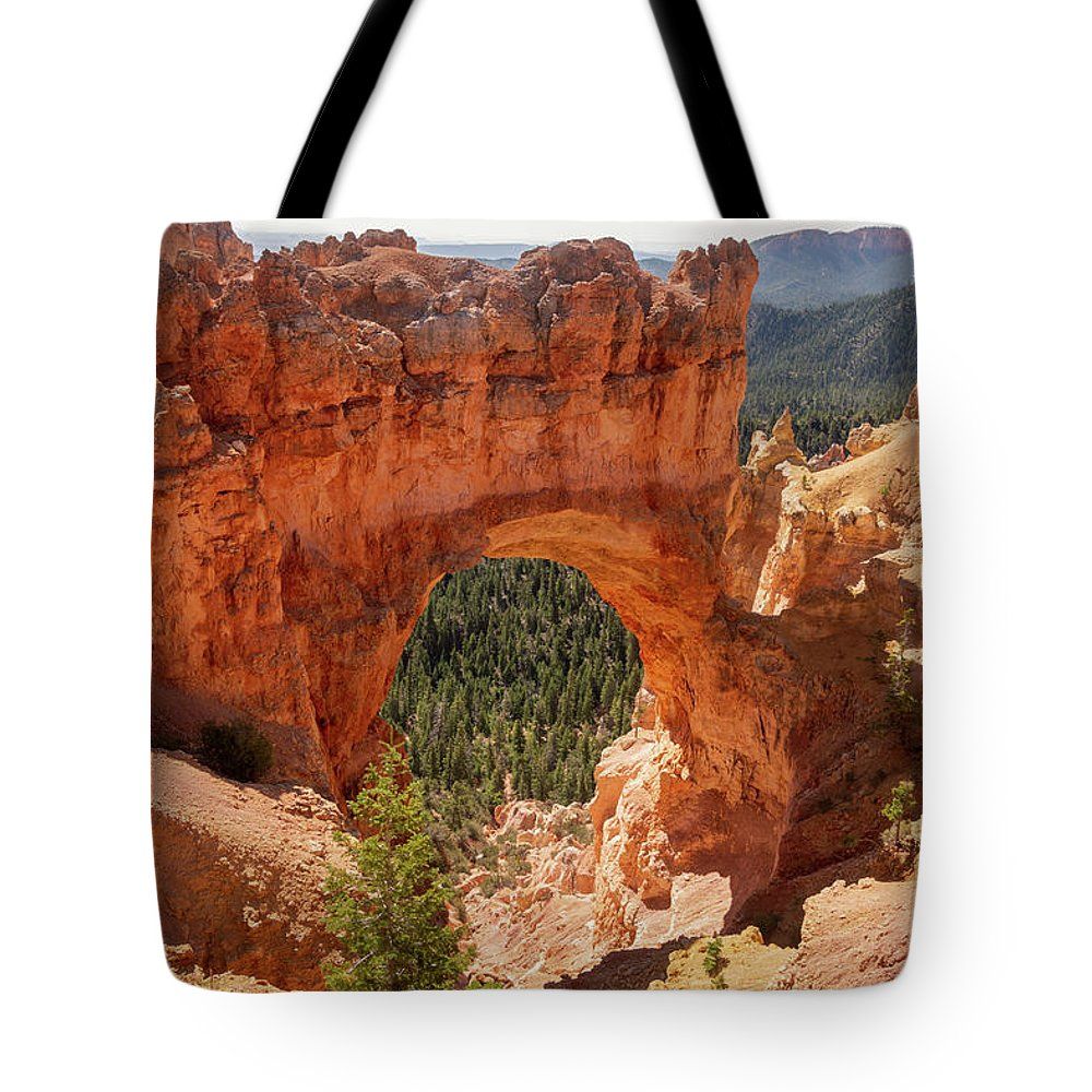 Natural Bridge Tote Bag featuring the photograph Natural Bridge - Bryce Canyon - Utah by Debra Martz