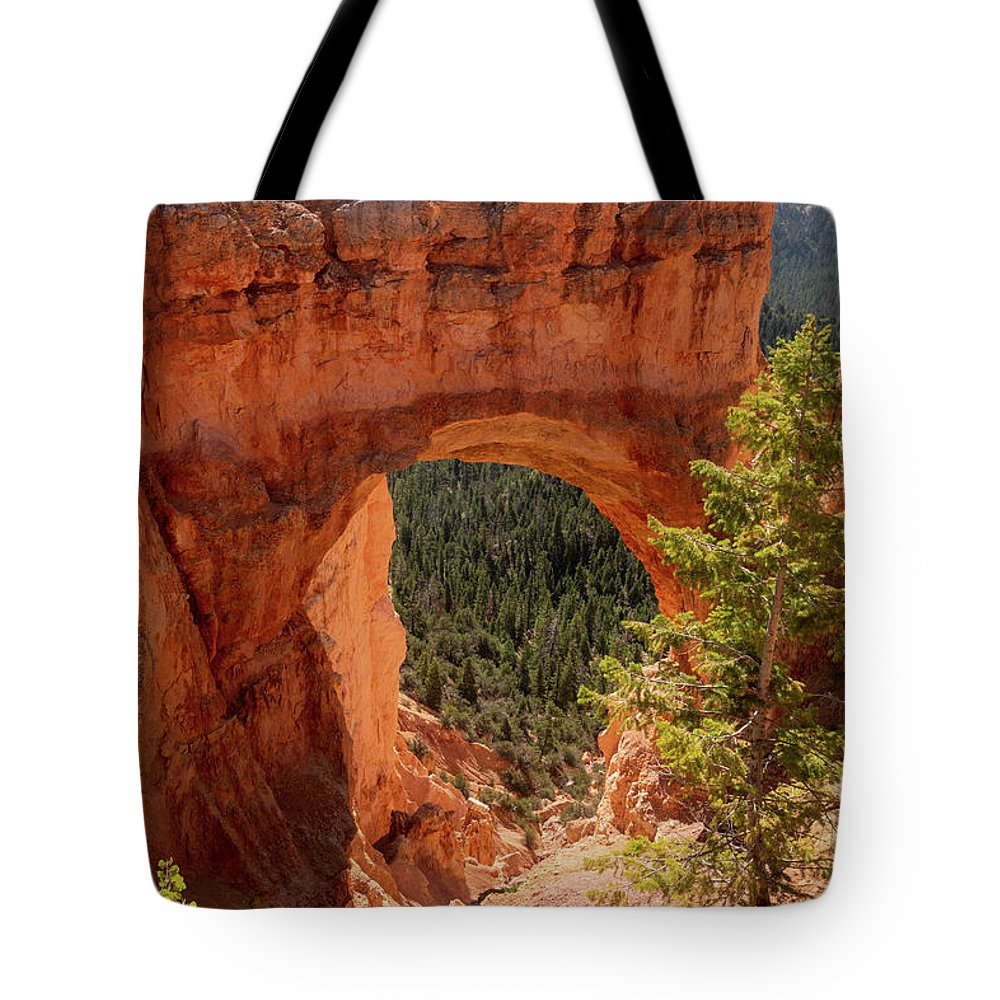 Natural Bridge Tote Bag featuring the photograph Natural Bridge - Bryce Canyon - Utah - Vertical by Debra Martz
