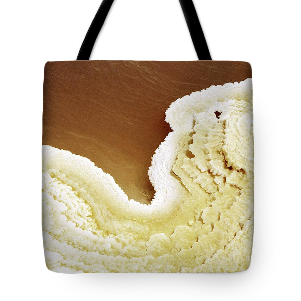 Mineral Tote Bag featuring the photograph Natural Salt On A Salt Lake by Hans Neleman