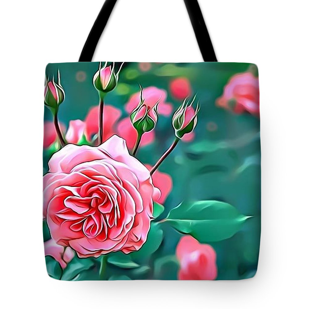 Female Tote Bag featuring the digital art Naturalness And Flowers 31 by Leo Rodriguez