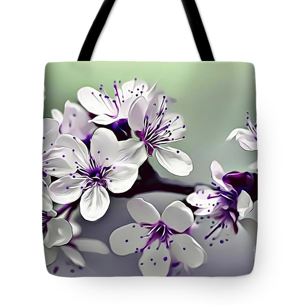 Female Tote Bag featuring the digital art Naturalness And Flowers 33 by Leo Rodriguez