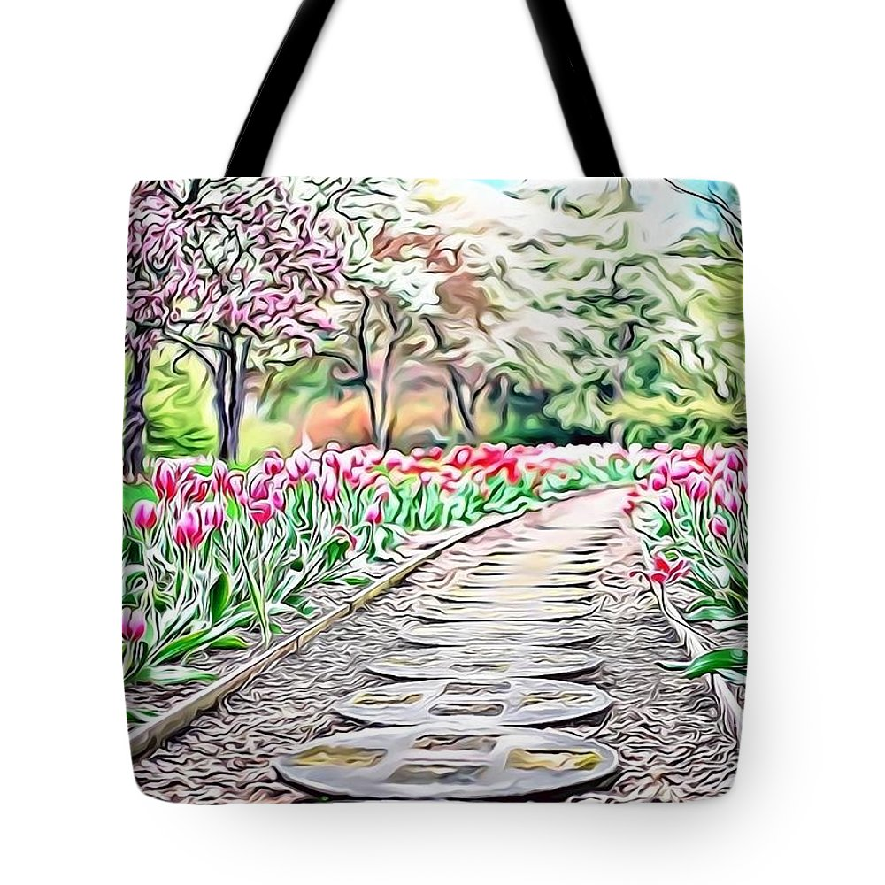 Female Tote Bag featuring the digital art Naturalness And Flowers 36 by Leo Rodriguez