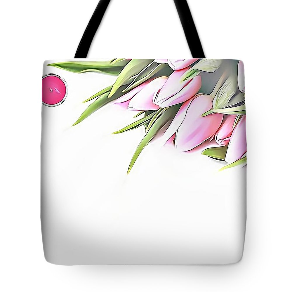 Female Tote Bag featuring the digital art Naturalness And Flowers 42 by Leo Rodriguez