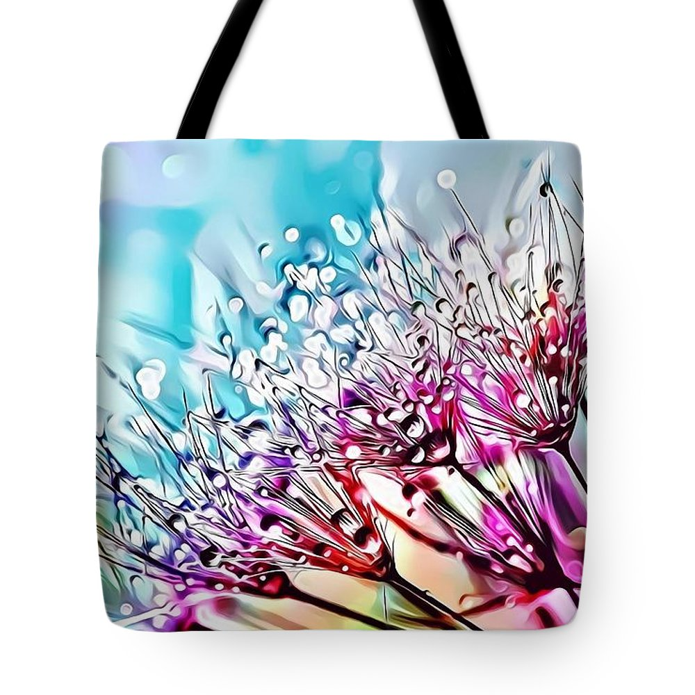 Female Tote Bag featuring the digital art Naturalness And Flowers 45 by Leo Rodriguez