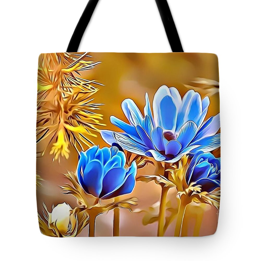 Female Tote Bag featuring the digital art Naturalness And Flowers 47 by Leo Rodriguez