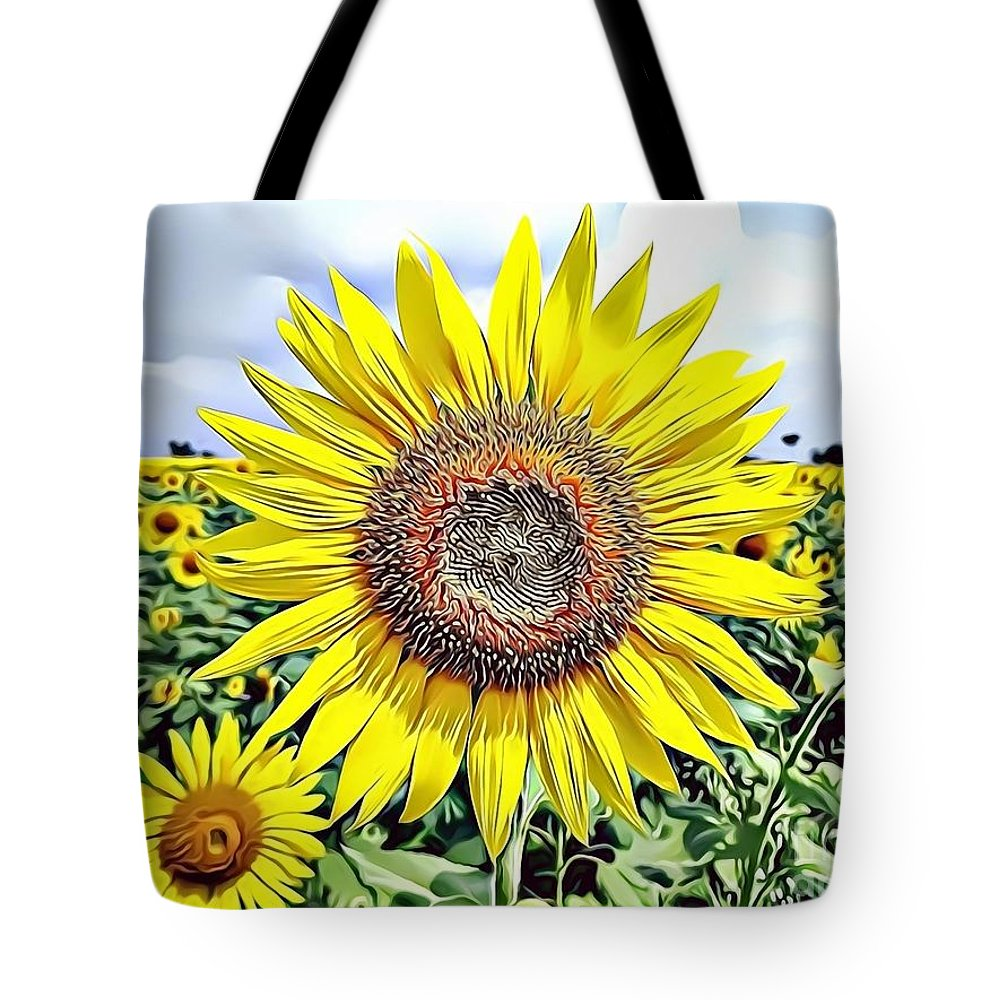 Female Tote Bag featuring the digital art Naturalness And Flowers 51 by Leo Rodriguez