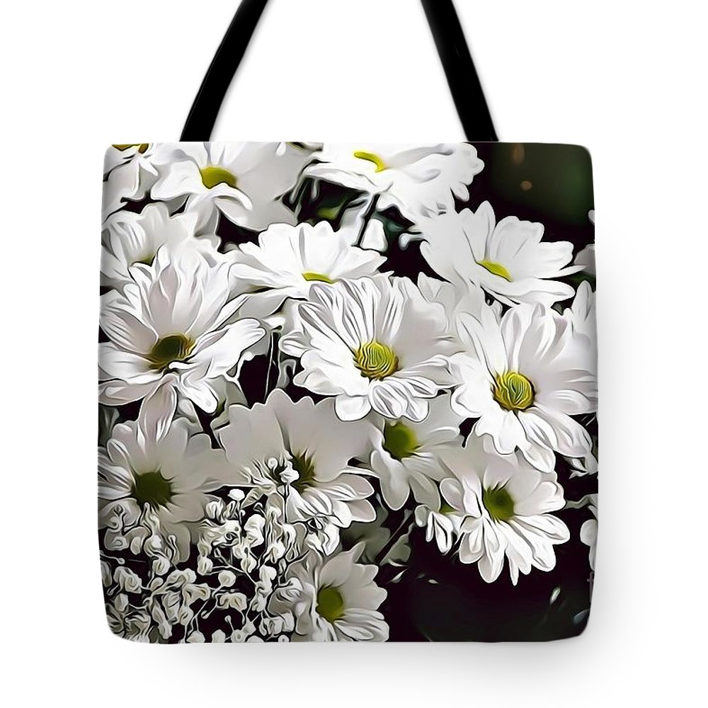 Female Tote Bag featuring the digital art Naturalness And Flowers 52 by Leo Rodriguez