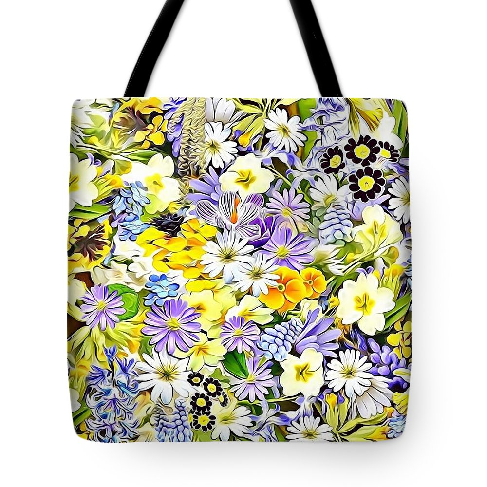 Female Tote Bag featuring the digital art Naturalness And Flowers 54 by Leo Rodriguez