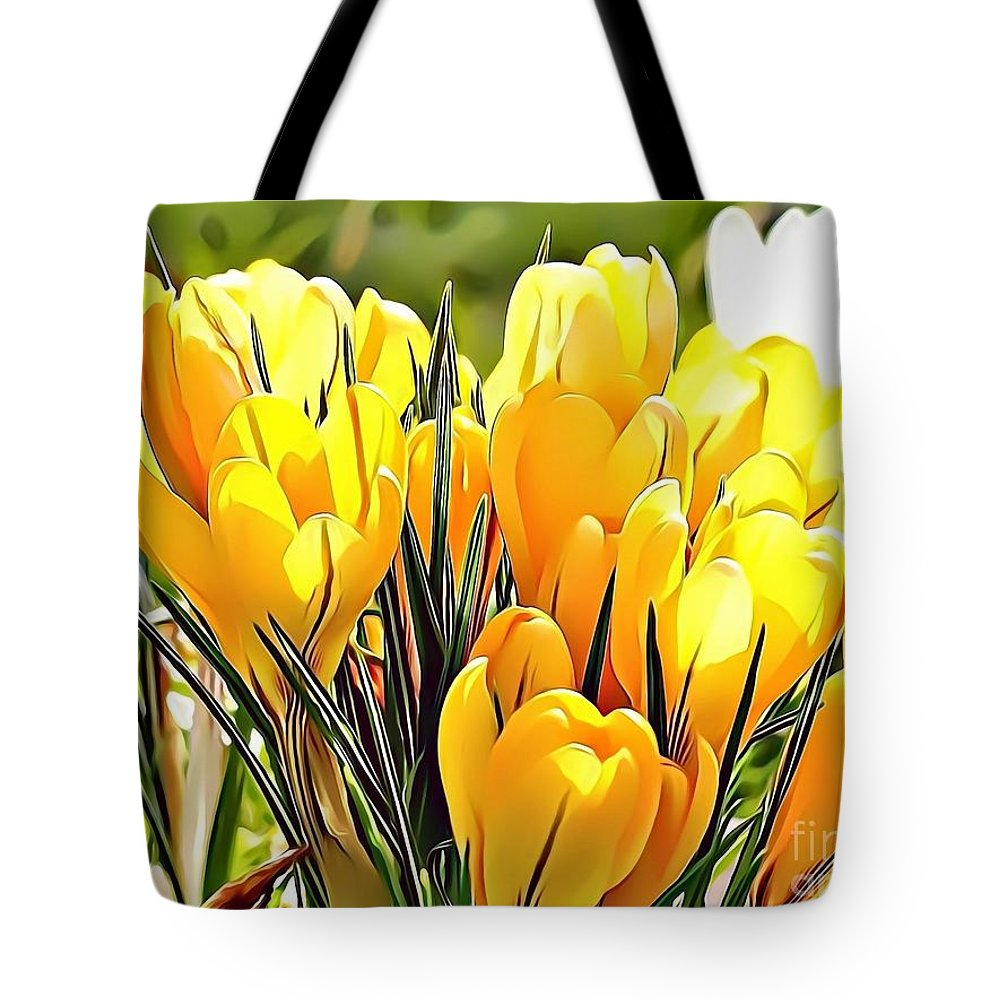 Female Tote Bag featuring the digital art Naturalness And Flowers 56 by Leo Rodriguez