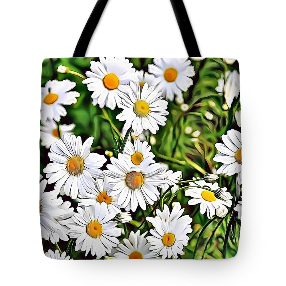 Female Tote Bag featuring the digital art Naturalness And Flowers 57 by Leo Rodriguez