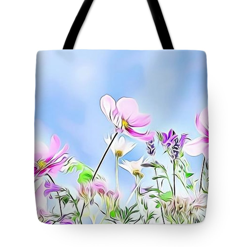 Female Tote Bag featuring the digital art Naturalness And Flowers 59 by Leo Rodriguez