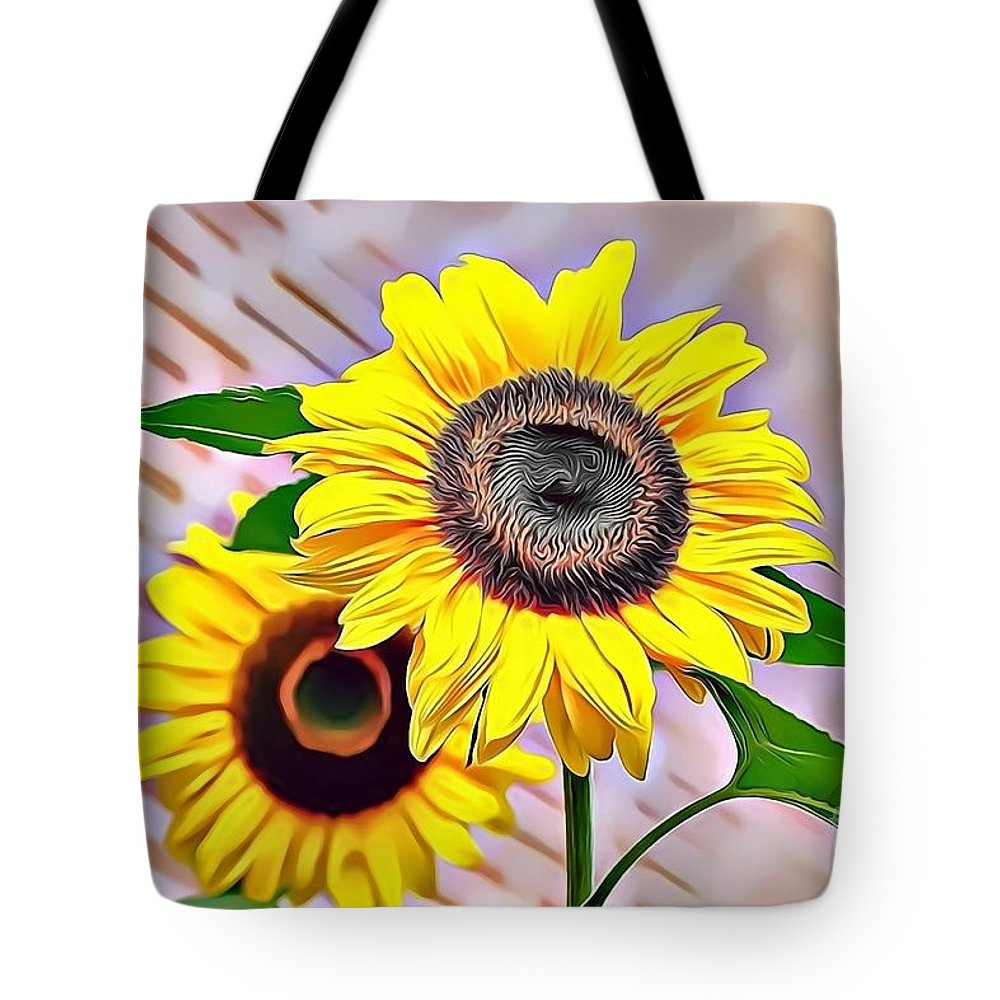 Female Tote Bag featuring the digital art Naturalness And Flowers 60 by Leo Rodriguez