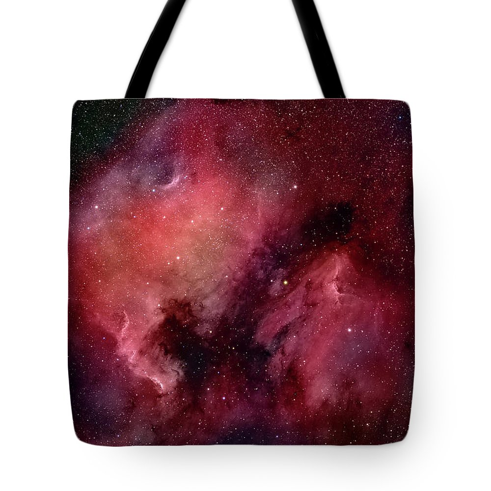 Majestic Tote Bag featuring the photograph Nebulae In Cygnus by Plefevre