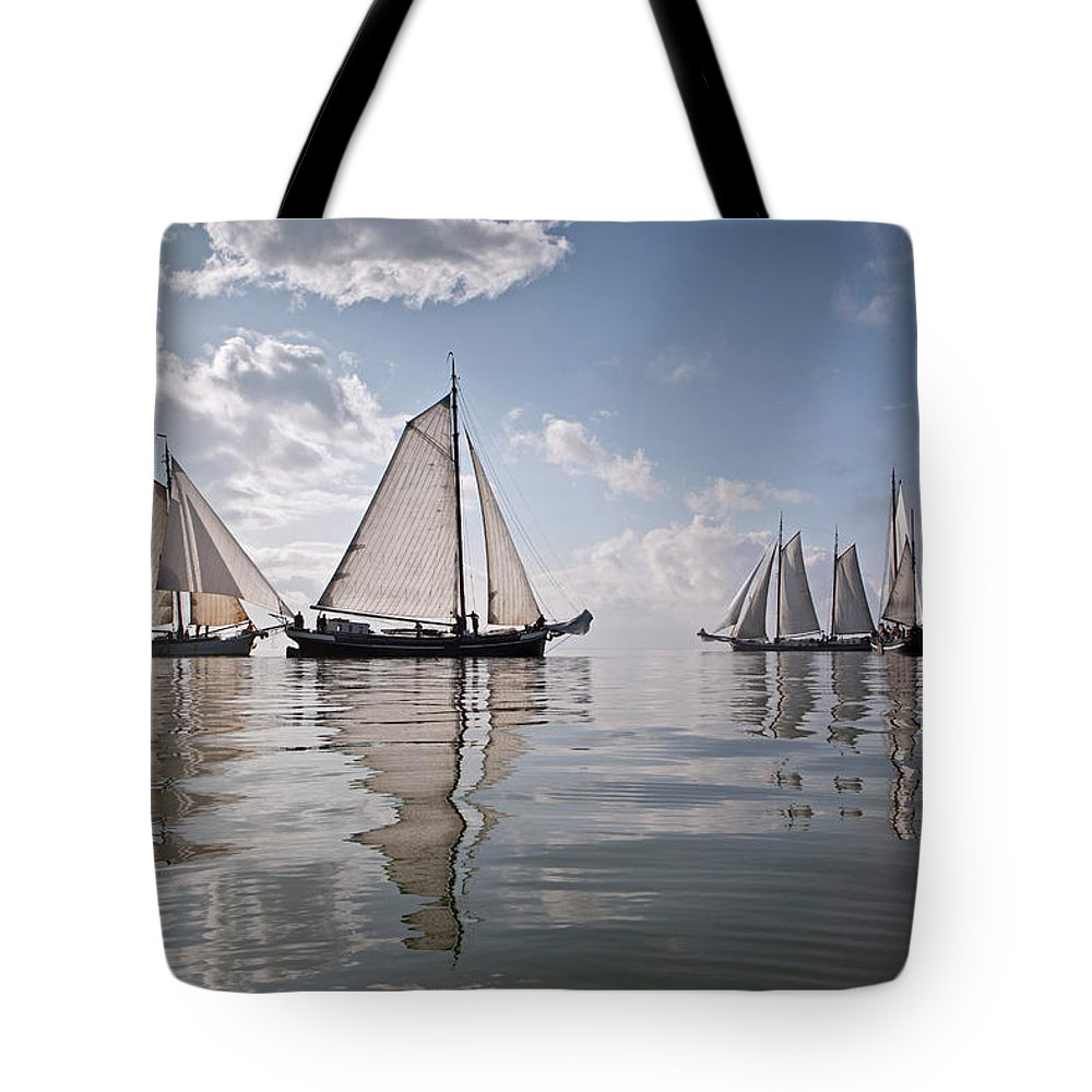 North Holland Tote Bag featuring the photograph Netherlands, Race Of Traditional by Frans Lemmens