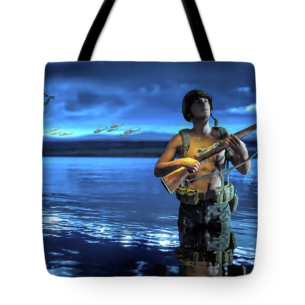 Medivac Digital Art Tote Bags