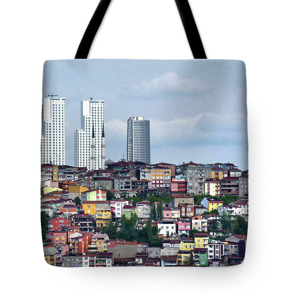 Istanbul Tote Bag featuring the photograph New Istanbul by Alain Bachellier